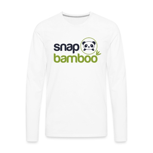 Snap Bamboo Square Logo Branded - Men's Premium Long Sleeve T-Shirt