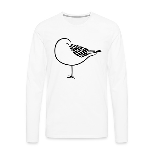 sleeping bird early dove wings seagull feather - Men's Premium Long Sleeve T-Shirt