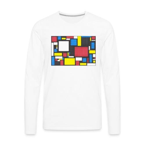 Geometric Pattern 2 - Men's Premium Long Sleeve T-Shirt