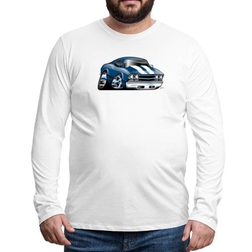 69 Muscle Car Cartoon - Men's Premium Long Sleeve T-Shirt