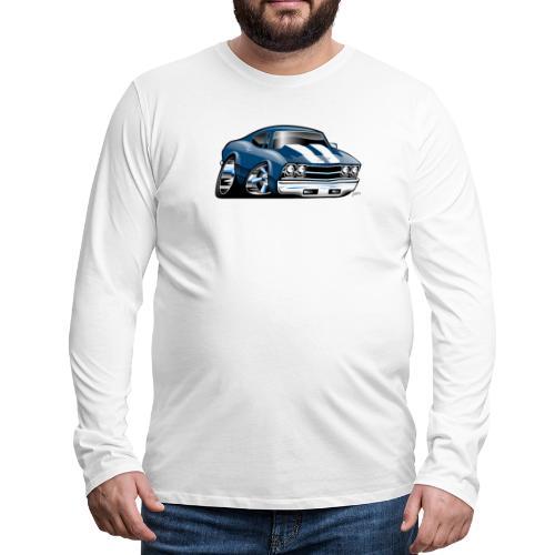 69 Muscle Car Cartoon - Men's Premium Long Sleeve T-Shirt