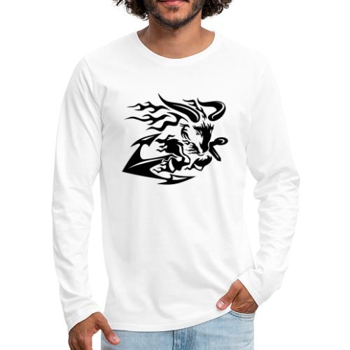 Goat with Anchor - Men's Premium Long Sleeve T-Shirt