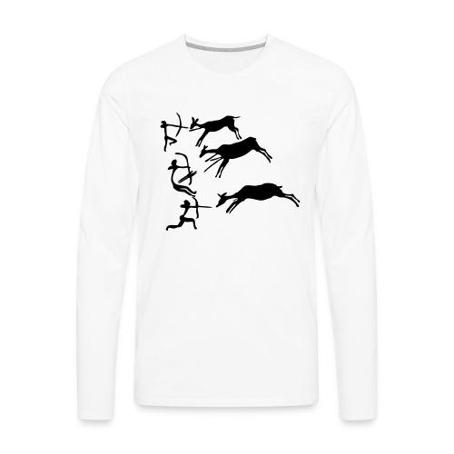 Lascaux Cave Painting - Men's Premium Long Sleeve T-Shirt