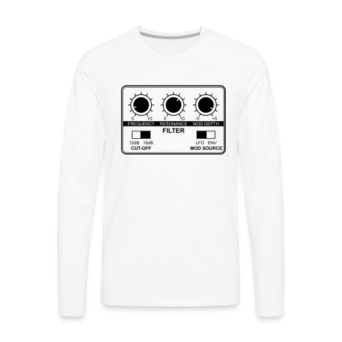 Synth Filter with Knobs - Men's Premium Long Sleeve T-Shirt