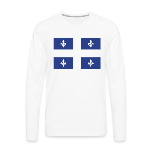 Drapeau du Québec FT - Men's Premium Long Sleeve T-Shirt