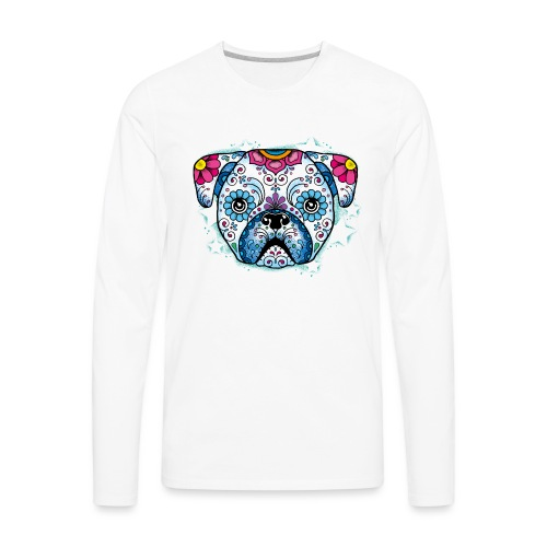 Puppy Sugar Skull - Men's Premium Long Sleeve T-Shirt