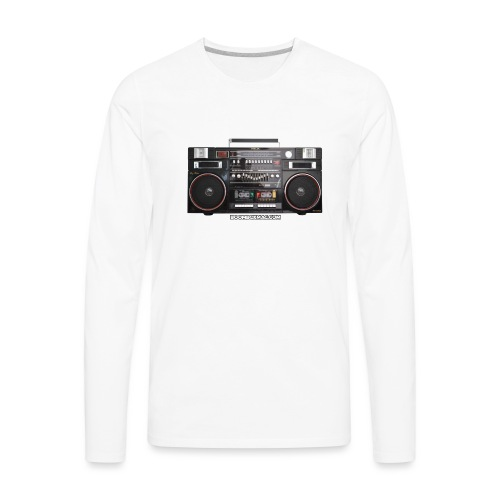 Helix HX 4700 Boombox Magazine T-Shirt - Men's Premium Long Sleeve T-Shirt