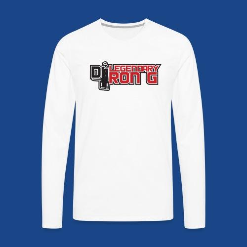 Ron G logo - Men's Premium Long Sleeve T-Shirt
