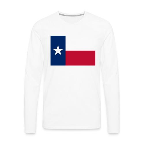 2000px Flag of Texas svg - Men's Premium Long Sleeve T-Shirt
