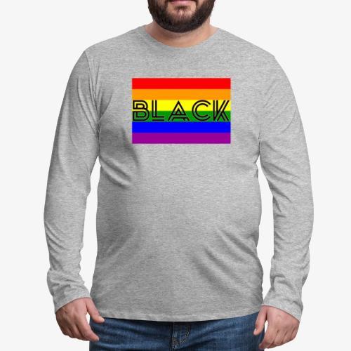 Black LGBTQ - Men's Premium Long Sleeve T-Shirt