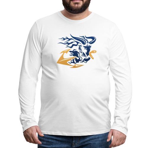 Goat with Anchor - Men's Premium Long Sleeve T-Shirt