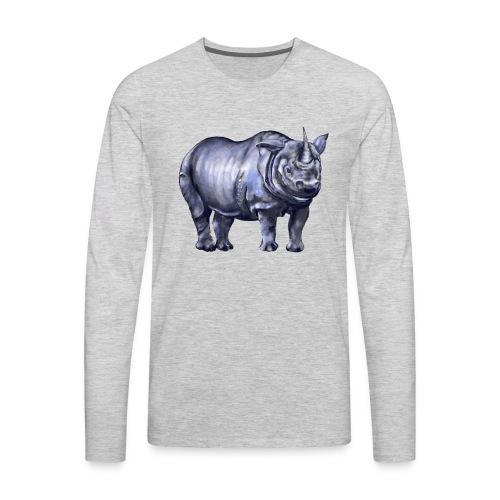 One horned rhino - Men's Premium Long Sleeve T-Shirt