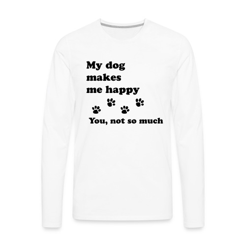 love dog 2 - Men's Premium Long Sleeve T-Shirt