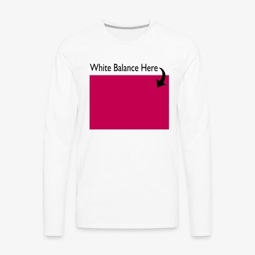 White Balance - Men's Premium Long Sleeve T-Shirt