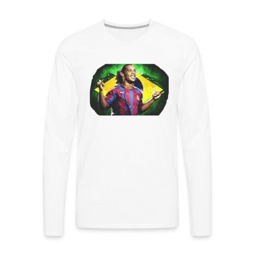 Ronaldinho Brazil/Barca print - Men's Premium Long Sleeve T-Shirt