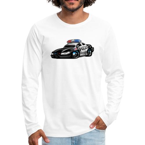 Police Muscle Car Cartoon - Men's Premium Long Sleeve T-Shirt