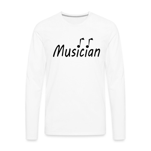 musician black - Men's Premium Long Sleeve T-Shirt