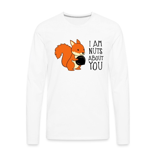 I am nuts about you - Men's Premium Long Sleeve T-Shirt