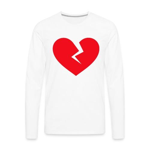 Broken Heart - Men's Premium Long Sleeve T-Shirt