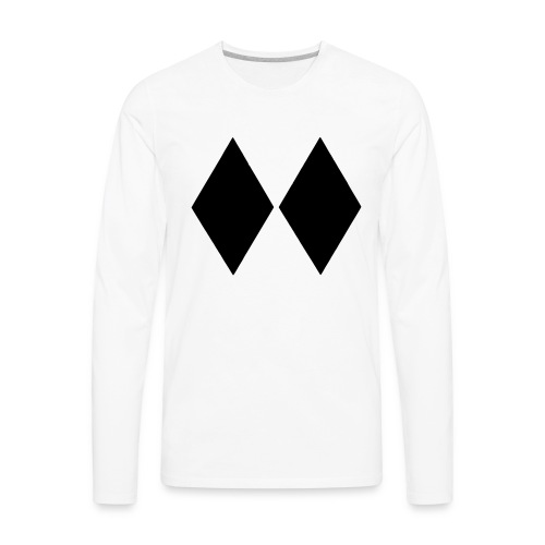 Double Black Diamond - Men's Premium Long Sleeve T-Shirt