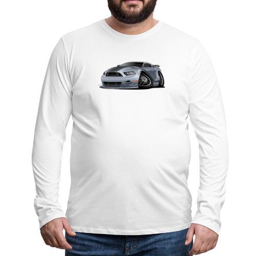 Modern American Muscle Car Cartoon Vector - Men's Premium Long Sleeve T-Shirt
