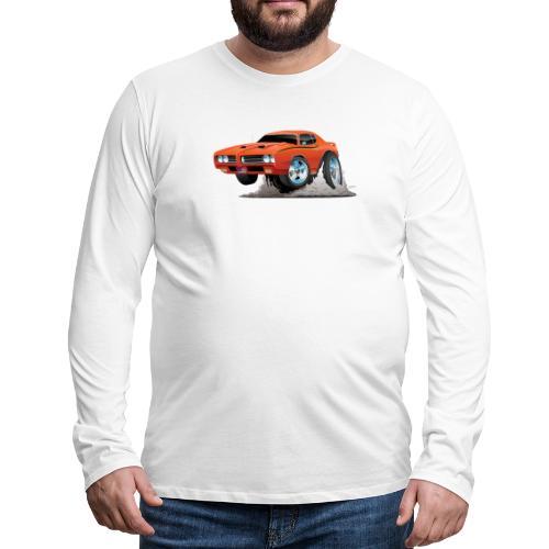 Classic American Muscle Car Cartoon - Men's Premium Long Sleeve T-Shirt