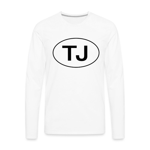 Jeep TJ Wrangler Oval - Men's Premium Long Sleeve T-Shirt