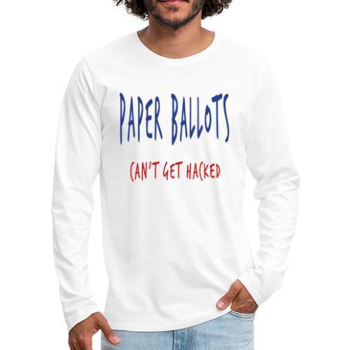 Paper Ballots T-shirts - Men's Premium Long Sleeve T-Shirt