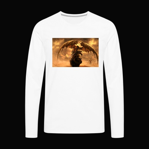 Dragon féroce - Men's Premium Long Sleeve T-Shirt