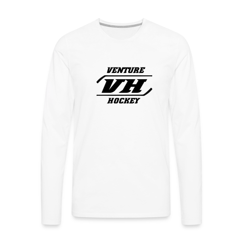 Original Venture Hockey Logo - Men's Premium Long Sleeve T-Shirt