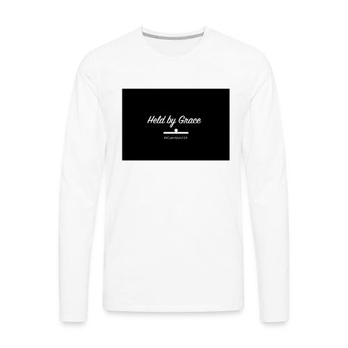 held by grace - Men's Premium Long Sleeve T-Shirt
