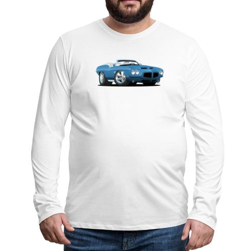 American Classic Seventies Convertible Car Cartoon - Men's Premium Long Sleeve T-Shirt