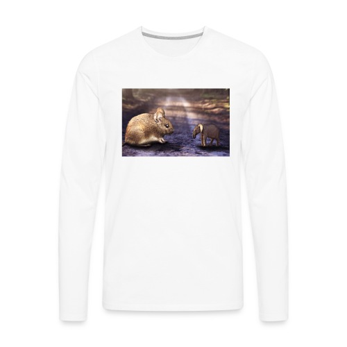 Mouse vs elephant - Men's Premium Long Sleeve T-Shirt
