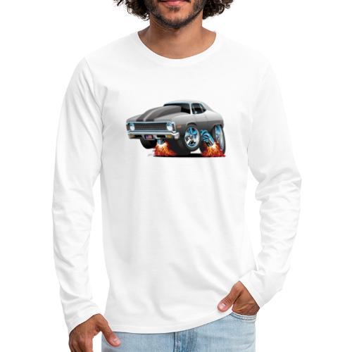 Classic American Muscle Car Hot Rod Cartoon - Men's Premium Long Sleeve T-Shirt