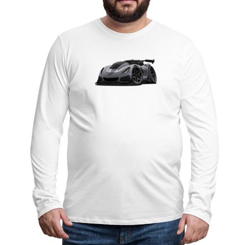 Modern American Sports Car Cartoon - Men's Premium Long Sleeve T-Shirt