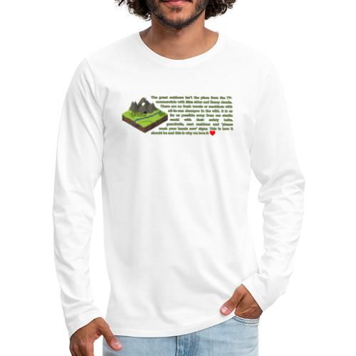 Loving Nature - Men's Premium Long Sleeve T-Shirt