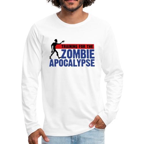Zombie Apocalypse Gym Motivation - Men's Premium Long Sleeve T-Shirt