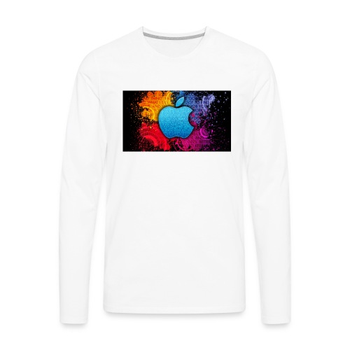 apple - Men's Premium Long Sleeve T-Shirt