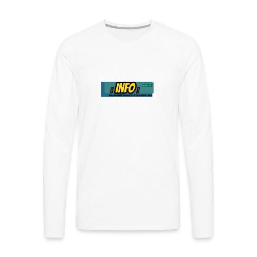 SalmonCraaft's info - Men's Premium Long Sleeve T-Shirt