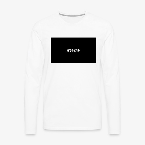 NuWAV Skeleton Merch - Men's Premium Long Sleeve T-Shirt