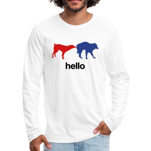 Hello - Men's Premium Long Sleeve T-Shirt
