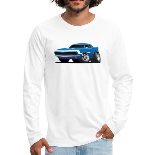 Classic Sixties Muscle Car Hot Rod Cartoon - Men's Premium Long Sleeve T-Shirt