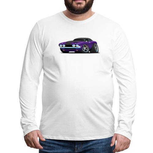 Classic Muscle Car Cartoon - Men's Premium Long Sleeve T-Shirt