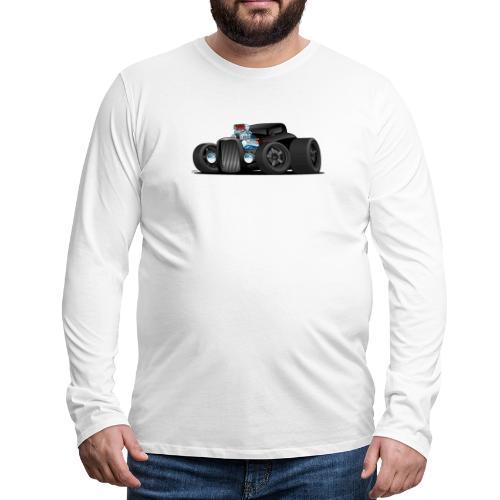 Custom Black Hot Rod Coupe - Men's Premium Long Sleeve T-Shirt