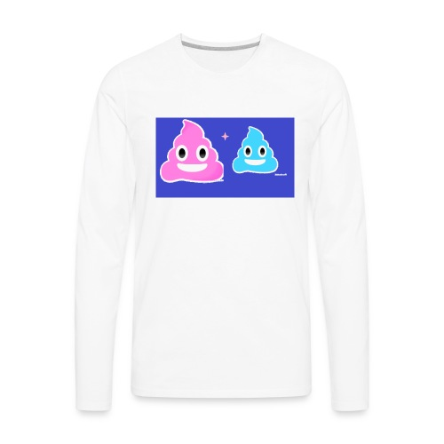 blue and pink poop - Men's Premium Long Sleeve T-Shirt