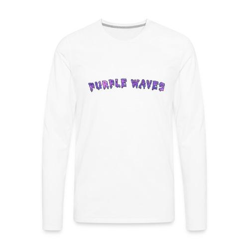 Purple Waves - Men's Premium Long Sleeve T-Shirt