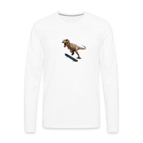 T-Rex Kickflip - Men's Premium Long Sleeve T-Shirt