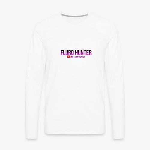 The Fluro Hunter Black And Purple Gradient - Men's Premium Long Sleeve T-Shirt