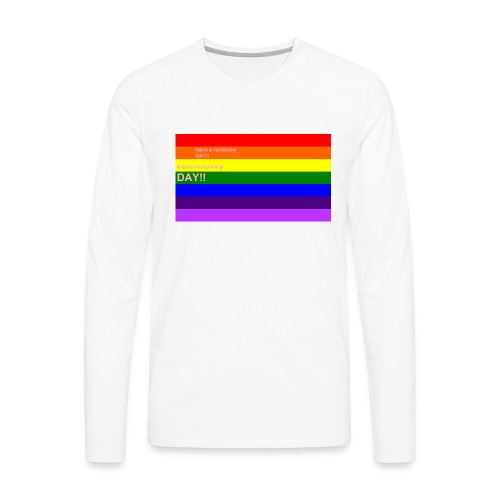 rainbowy day - Men's Premium Long Sleeve T-Shirt