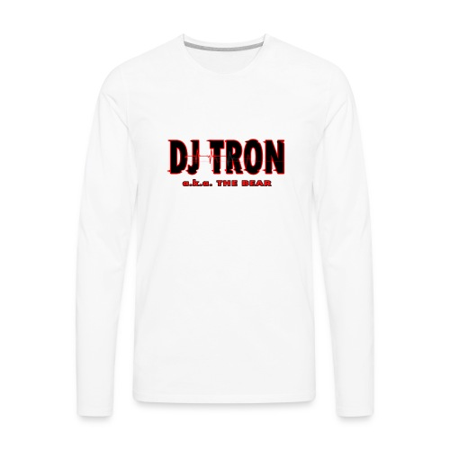 DJ tron logo 2 - Men's Premium Long Sleeve T-Shirt